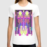 art deco T-shirts featuring Twin Art Deco Butterflies by SharlesArt