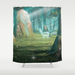 The rock of souls Shower Curtain