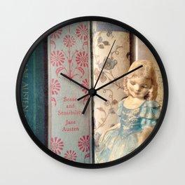 Library of Sense and Sensibility Wall Clock