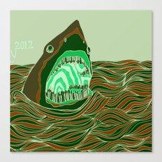Piano Shark Canvas Print