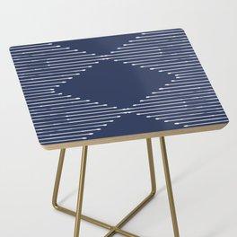 Geo / Navy Side Table