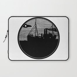 Silent boat. Laptop Sleeve