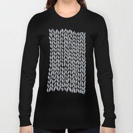 Hand Knit Zoom Grey Long Sleeve T-shirt