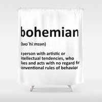 bohemian Shower Curtains featuring bohemian by bohemianizm