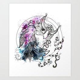Owl watch over you Art Print