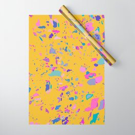 Bright Yellow Terrazzo Wrapping Paper
