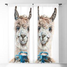 Llama Latte Blackout Curtain
