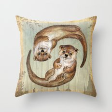 OTTERs over Praha Throw Pillow