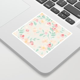 Seamless Pastel Magical Plant Floral Pattern Cute Whimsical Sticker