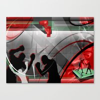 boxing Canvas Prints featuring Boxing by Robin Curtiss