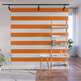 Orange Stripes Wall Mural