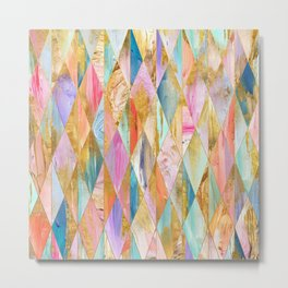 Justine Abstract Brushstrokes Pattern Metal Print