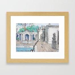 Belvedere Pool Framed Art Print