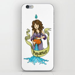 Aquarius - The Water Bearer iPhone Skin