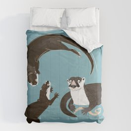 Asiatic and African clawless otter Comforters