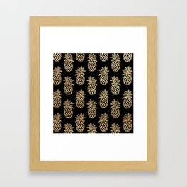 Piñas Gold Framed Art Print