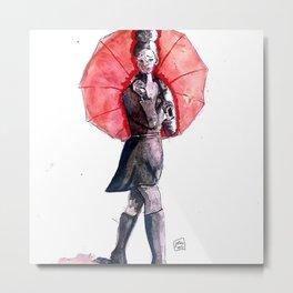 Jeune femme au parapluie Metal Print