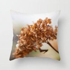 Winter Hydrangea II Throw Pillow