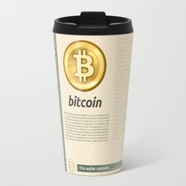 Bitcoin banknote new Travel Mug