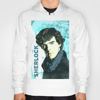 sherlock holmes Hoodies featuring Sherlock Holmes by illustratemyphoto