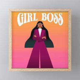 Girl Boss Modern Feminist Art - Gift For Her - Design for a Boss Lady Framed Mini Art Print