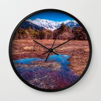 rustic Wall Clocks featuring Rustic by Jonah Anderson