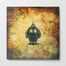 changes into a tardis Metal Print