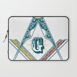 Square and Compass - freemasonry Laptop Sleeve