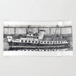MV Balmoral on the Bristol Floating Harbour Beach Towel
