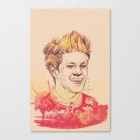 niall horan Canvas Prints featuring Niall Horan by vanessa