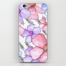 Watercolor Flowers with Banana Leaves iPhone & iPod Skin