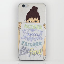 Positive about Ambiguity iPhone Skin