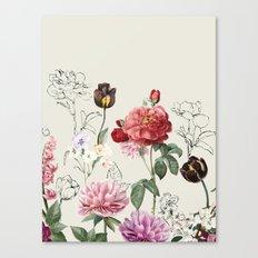 Flowers illustraion Canvas Print