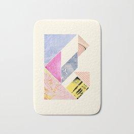 Collaged Tangram Alphabet - B Bath Mat