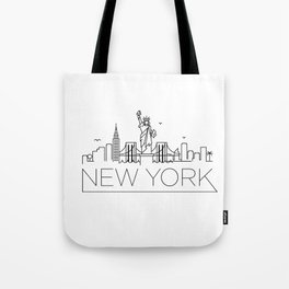 Minimal New York Skyline Design Tote Bag