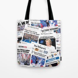 Hillary 2016 Historic Front Pages Tote Bag