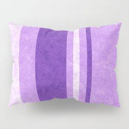 Retro Vintage Lilac Grunge Stripes Pillow Sham