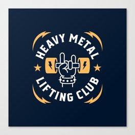 Heavy Metal Lifting Club (Yellow) Canvas Print