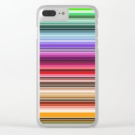 Lines-1A Clear iPhone Case