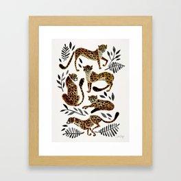 Cheetah Collection – Mocha & Black Palette Framed Art Print