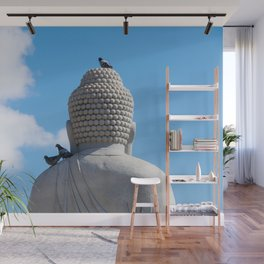 Buddha and the birds Wall Mural
