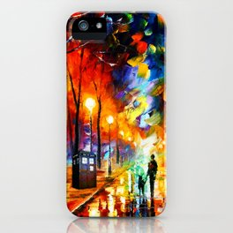 Tardis Art Watching iPhone Case