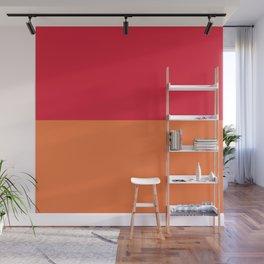 Raspberry Peach Orange Wall Mural