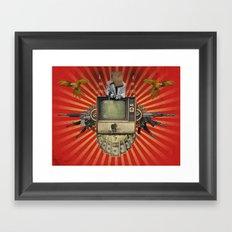 The Revolution Will Not Be Televised! Framed Art Print