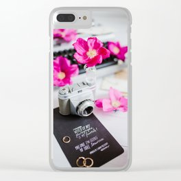 Photographers life Clear iPhone Case