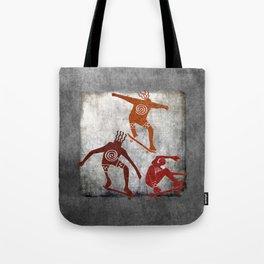 Skateboard Petroglyph Tote Bag