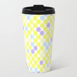 Fun summer Yellow pattern . Travel Mug
