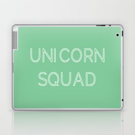 Unicorn Squad - Mint Green and White Laptop & iPad Skin