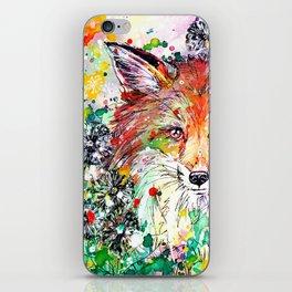 Hide and Seek - Fox Painting iPhone Skin