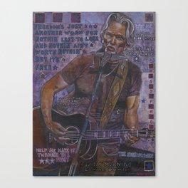 Kris Kristofferson Canvas Print